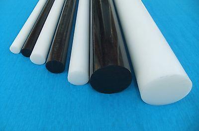 Rundmaterial Zuschnitt L: 25mm Polyamid PA6 Rundstab schwarz /Ø 6mm 2,5cm