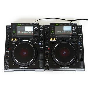 2er-Paket-Pioneer-CDJ-2000-DJ-CD-USB-SD-MP3-Multi-Player-kostenloses-T-Shirt