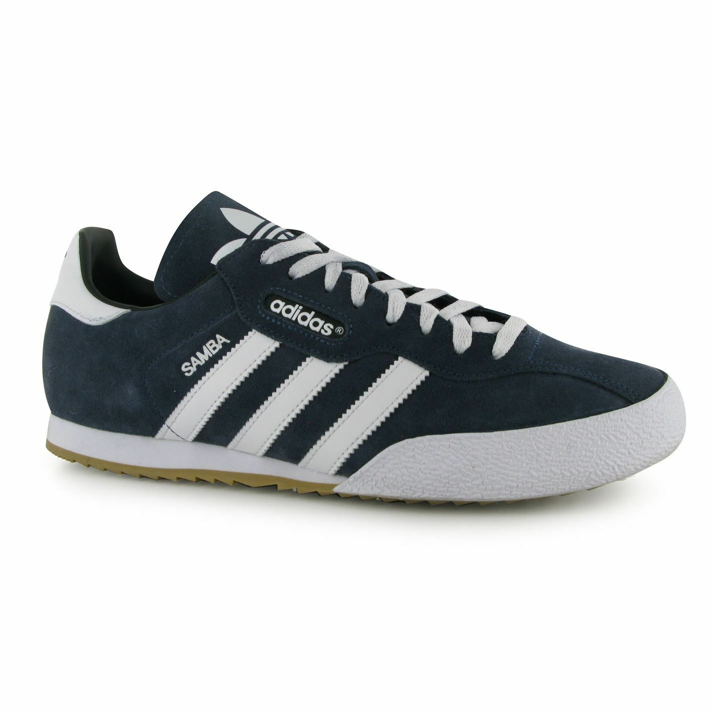 New 2018 Adidas Original Mens Samba Suede Shoes Trainers Navy/White Sizes 4-14