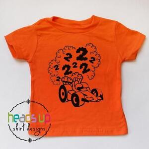 Image Is Loading Race Car 2nd Birthday Shirt Toddler Boy Second
