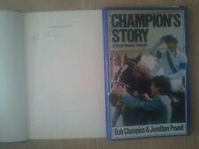 HORSE RACING CHAMPION'S STORY SIGNED BOB CHAMPION GRAND NATIONAL 1/1 UK HB/DJ
