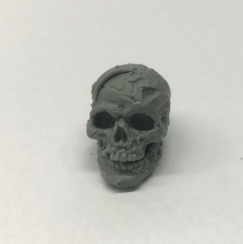 Custom modded Skeleton head hand-sculpted Fits Mythic Legion neck-post #7