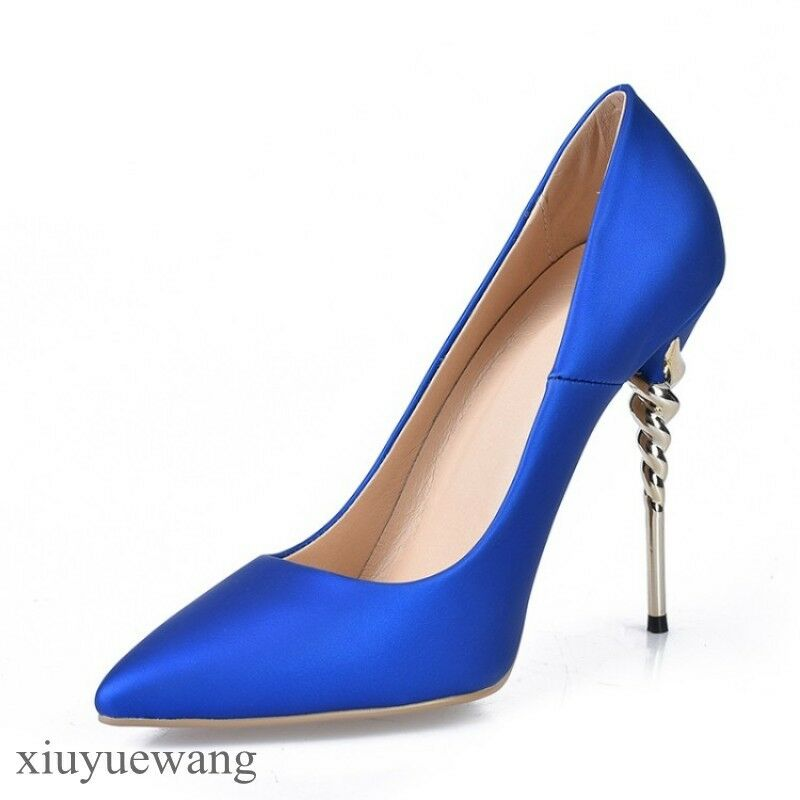 Women Pointy toe High Heel Stiletto Pumps Party Shoes Pull on Formal Dress Pumps