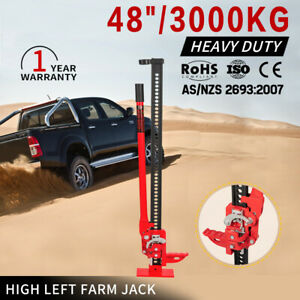 Red-High-Lift-Hi-Farm-Jack-3000Kg-48-034-inch-Recovery-Lifter-Heavy-Duty-4x4-4WD