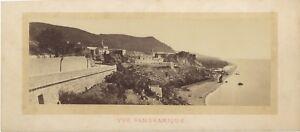 Italia-Panorama-Da-Ventimiglia-Fotografia-Vintage-Albumina-c1870