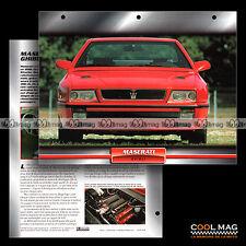 #020.08 ★ MASERATI GHIBLI 2.0 V6 1992 ★ Fiche Auto Car card