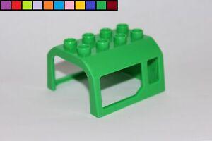 Lego-Duplo-Techo-Cabina-Del-Conductor-Electrico-Lok-Vagon-Verde-Tren