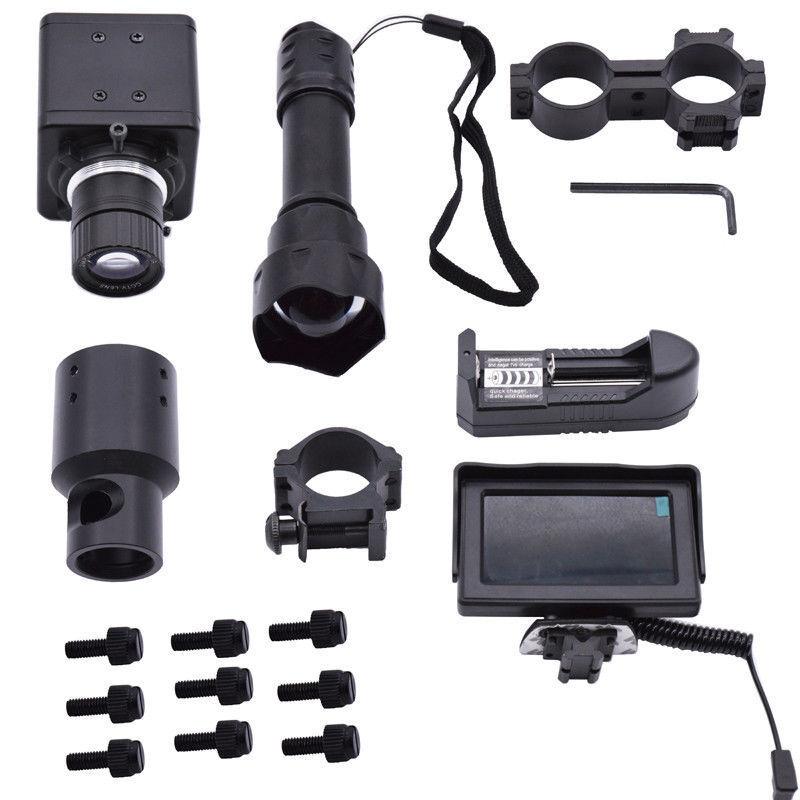 Mira Para Rifle Luz de visión nocturna de bricolaje e ir láser de infrarrojos Monitor de antorcha Antorcha monte caza