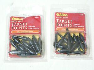 125 Gr 6 Pack Bullet Allen Stay Tight Arrow Points Field Target Tips 21//64 Dia
