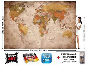 Mapa-Mundi-Foto-Mural-Vintage-Retro-Antiguo-Tamano-XXL-Decoracion-Despacho-Casa