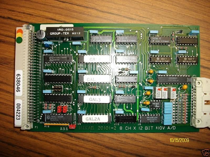 MIKAB 20101-2 8 CH X 12 BIT +-10V A D 638046 Card Board