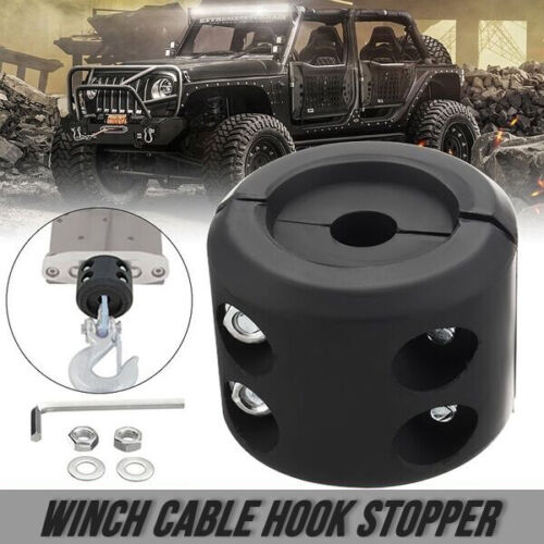 New Winch Cable Hook Stopper Rubber Winch Rope Line Saver For ATV//UTV Winches