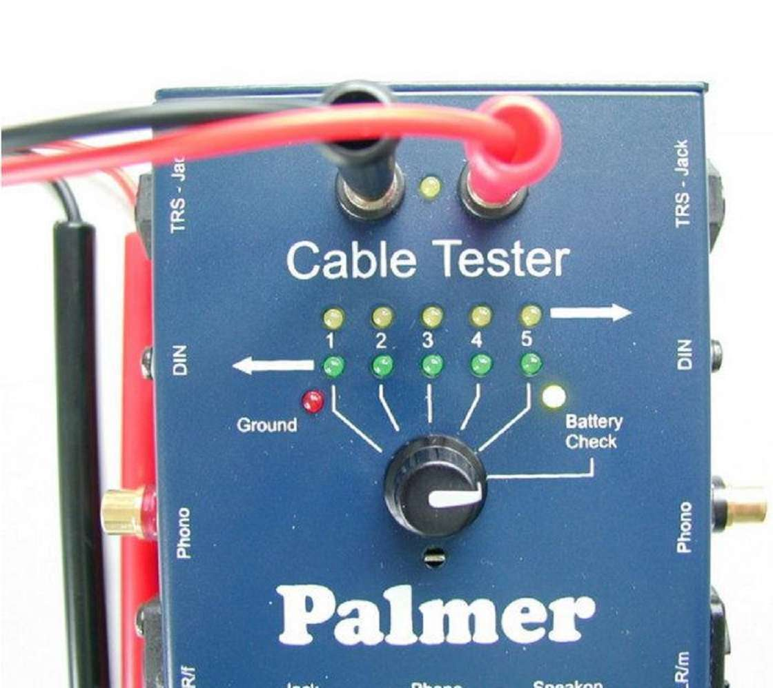 Comprobador Comprobador Comprobador Tester cables cables Palmer mct8 para XLR Speakon manija cinch din ahmct 8 nuevo 6a9481