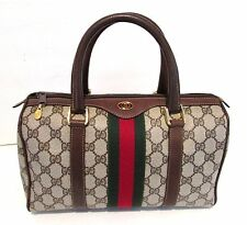 Authentic Vintage GUCCI Web Doctor Bag Satchel Speedy Purse Handbag GG Logo