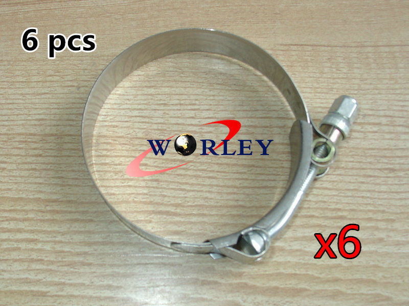 Pack of 4pcs Stainless Steel 64-74MM T-Bolt Clamp for Turbo Silicone Intercooler Intake Hose Clamp for 2.5 Hose