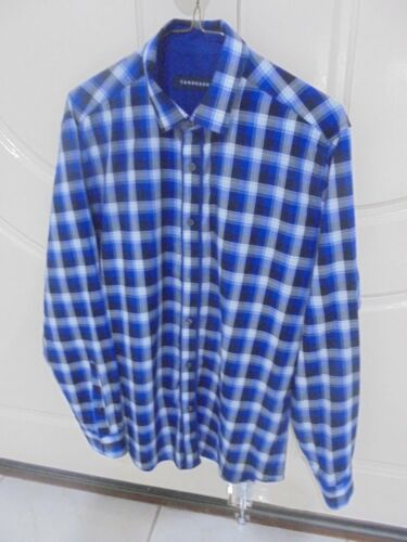 TARROCASH SIZE M BLUE BLACK WHITE CHECK BUSINESS FORMAL SHIRT 'PERFECT'