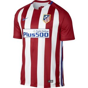 Nike Atletico Madrid Season 2016 - 2017 Home Soccer Jersey Brand New Red / White
