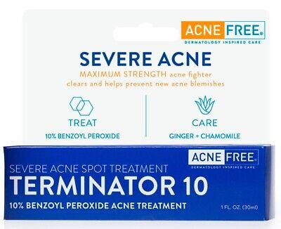 Acnefree Terminator 10 Acne Mancha El Tratamiento Con 10 De Peroxido De Benzoilo Ebay