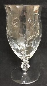 LIBBEY-Rock-Sharpe-Crystal-DUDLEY-Iced-Tea-Goblet-s-RARE