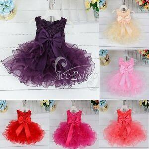 Vestidos-de-Princesa-para-Bebe-Nina-Boda-Bautizo-Fiesta-Varios-Colores-3M-4