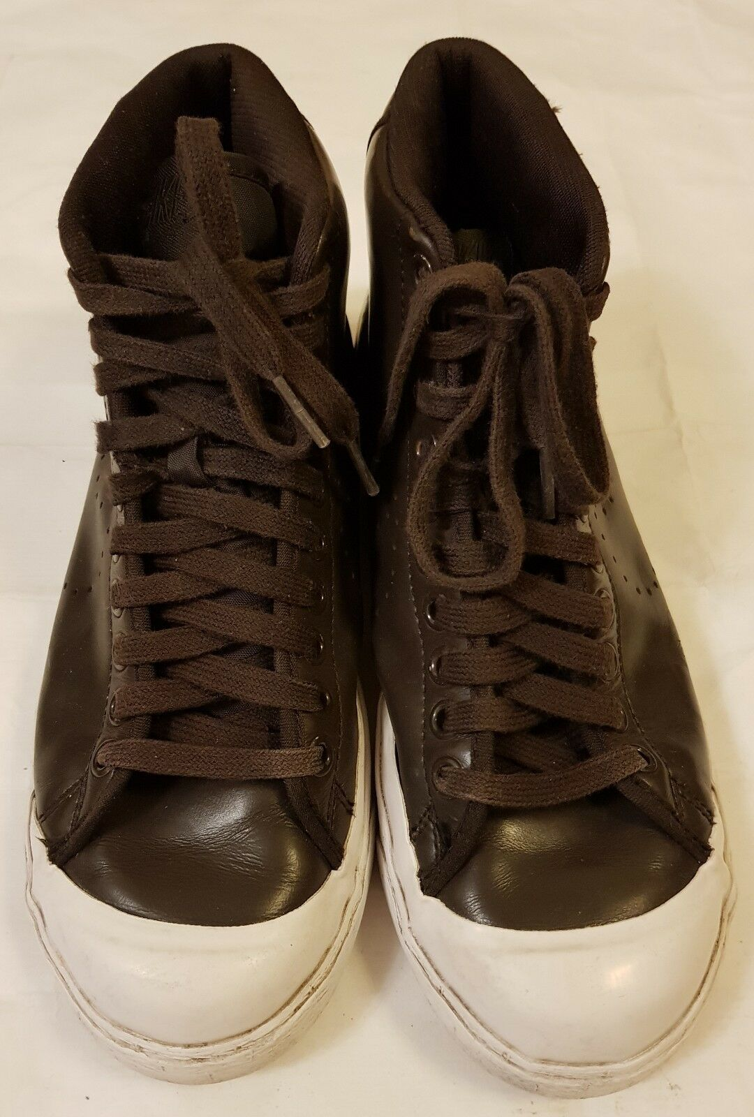 NIKE BROWN HIGH TOP LEATHER SNEAKERS/TRAINERS SIZE EURO 40 Cheap women's shoes women's shoes