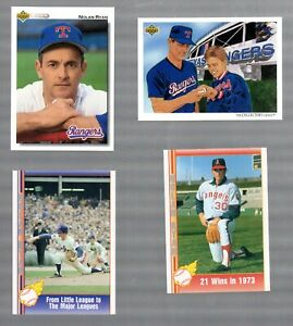 EARLY-039-90-039-S-MLB-PLAYER-NOLAN-RYAN-LOT-OF-4-CARDS-MINT