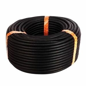 25-Ft-3-8-inch-Split-Wire-Loom-Conduit-Polyethylene-Tubing-Black-Color-Slee-C6X8