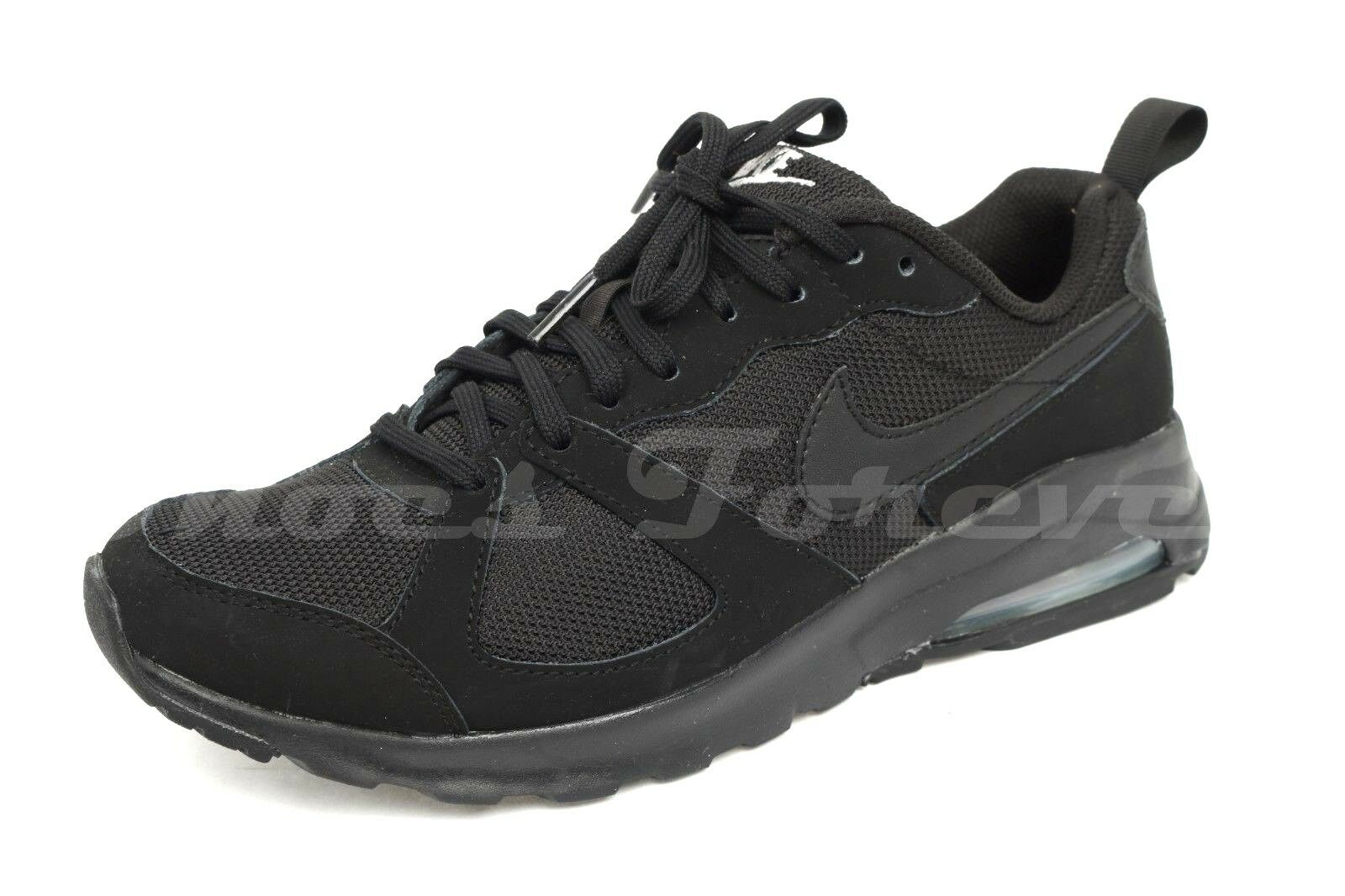 Mens NIKE AIR black fabric running sneakers shoes sz. 7 ( ) NEW
