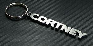 Cortney-nombre-personalizado-llavero-a-medida-Acero-Inoxidable-Regalo