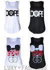 Womens/Ladies Sleeveless Mouse Textured Dope Vest Tank Top Size 8-14