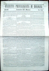 1846-GAZZETTA-PRIVILEGIATA-DI-BOLOGNA-CON-SUPPLEMENTO