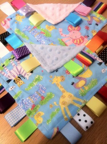 ZOO ANIMAL BABY//TODDLER TAGGY BLANKET//COMFORTER//GIFT *****MANY OPTIONS*****