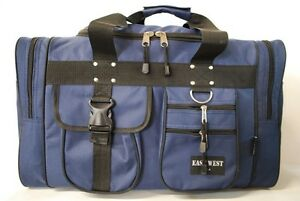 Image Is Loading Medium Navy Duffelbag Duffel Gym Bag Bags New