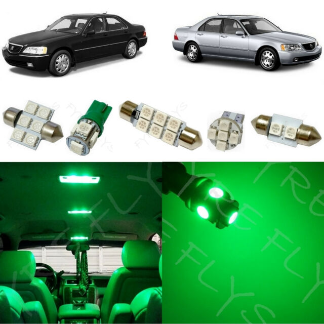 19x Green LED Lights Interior Package Kit For 1999-2004