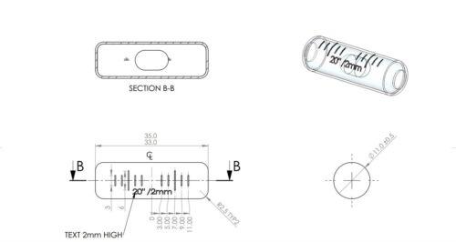 Taux De Remplacement flacon en verre esprit bulle précis aucune plume 35 mm x 11 mm Gr