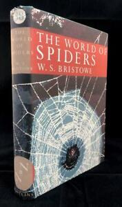 1958-NEW-NATURALIST-LIBRARY-WORLD-OF-SPIDERS-No-38-DUST-WRAPPER-1ST-EDITION