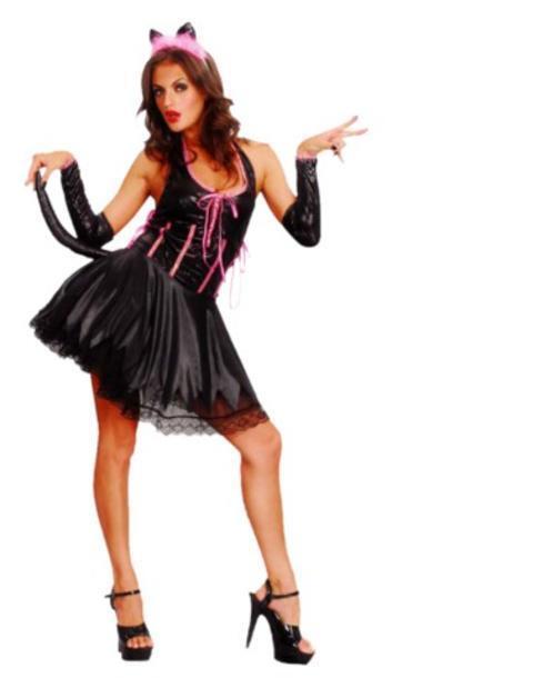 Sexy Pussy Cat Fancy Dress Costume Animal Hen Night Party Halloween