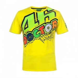 86e3ac022f New Valentino Rossi VR46 The Doctor 46 T Shirt Size S-XL Yellow 2017 ...