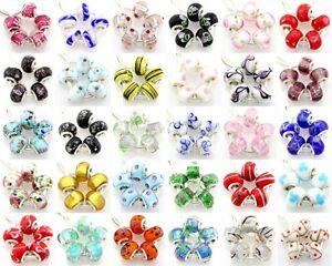 5pcs-Murano-Lampwork-Glass-Beads-Silver-Big-Hole-For-European-Charm-Bracelet-G5