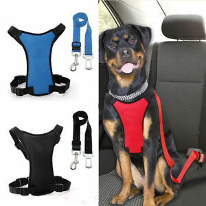 Details about Air Mesh Puppy Pet Dog Car Harness Seat Belt Clip Lead Safety  for Travel Dogs