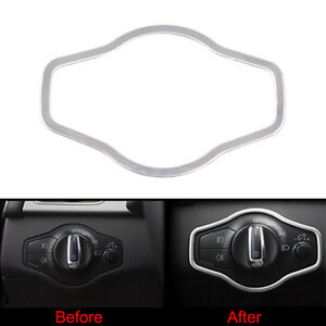 Chrome Interior Headlight Switch Button Cover Trim Fit for Audi A4 S4 Q5 A5 S5