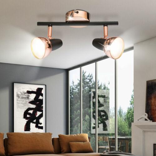 LED ALU Decken Leuchte beweglich Innen Raum Strahler kupferfarben Lampe schwarz
