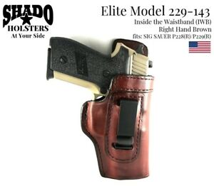 SHADO Leather Holster USA Elite Model 229-143 Right Hand Brown IWB Sig Sauer