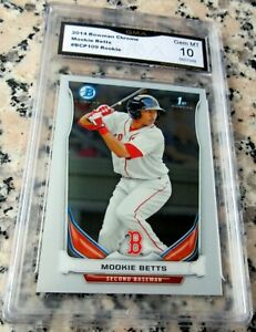MOOKIE-BETTS-2014-Bowman-CHROME-Rookie-Card-RC-GEM-MINT-10-Red-Sox-Dodgers-HOT
