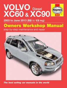 Haynes Workshop Manual Volvo XC60 Volvo XC90 2003-June 13 Repair Service Diesel