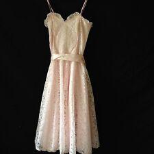 Gunne Sax Pink Lace Dress vintage girls size 10 Party Formal Wedding flower girl