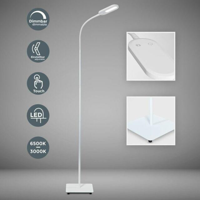 LED 12 Watt Stand Lampe Deckenfluter Lese Beleuchtung Wellen Steh Leuchte silber