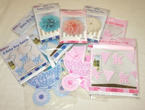 pom poms baby shower decorations bunting baby girl baby boy paper fan