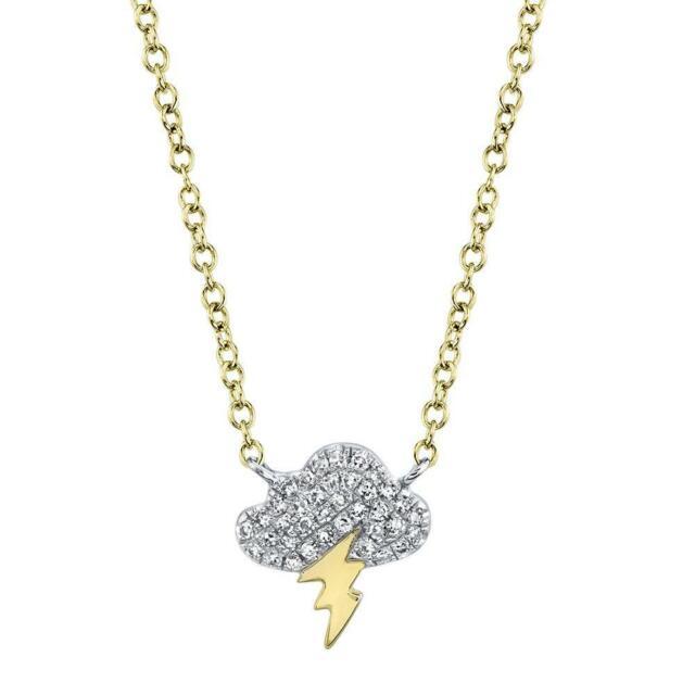 14K Gold /& Diamond Cloud Choker