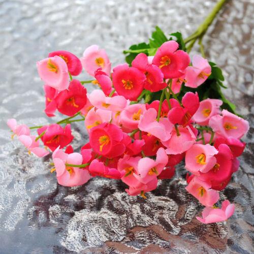1 Bouquet Artificial Campanula Fake Flower Silk Leaf Home Wedding Party Decor